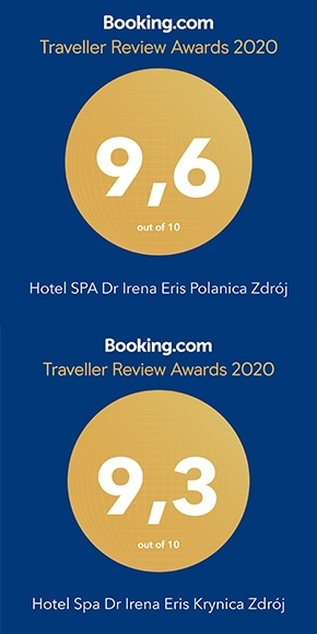Dr Irena Eris SPA Hotels with the Traveller Rewiev Award